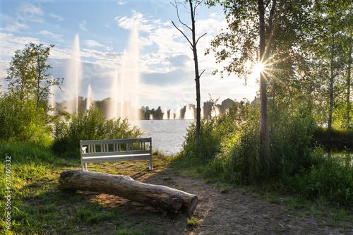 Canvastavla Ainolan puisto city park in Oulu, Finland