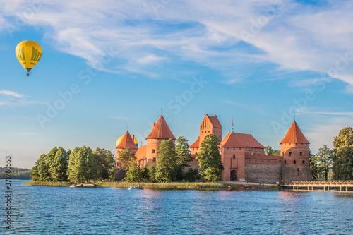 Fotografie, Obraz TRAKAI/LITHUANIA: 09/07/2019: Colorful Landscape of Trakai Historical National Park, UNESCO world heritage site, on beautiful summer day