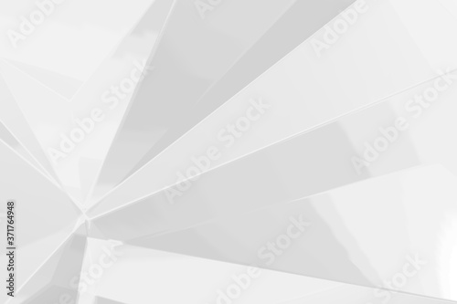 Fotografiet Abstract white and gray polygon triangle pattern background