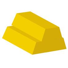 3 Gold Ingot. Yellow And White...