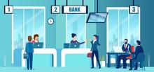Vector Of A Modern Bank Office...