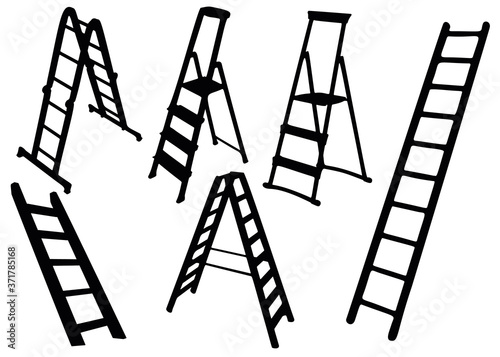 Photo Ladders and ladders in the set.