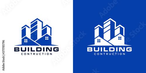 Foto building contruction logo design template creative