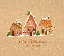 Greeting Christmas Card With C...