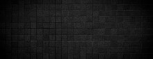 Black Brick Wall Horizontal Te...