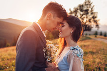 Young Loving Wedding Couple Hu...