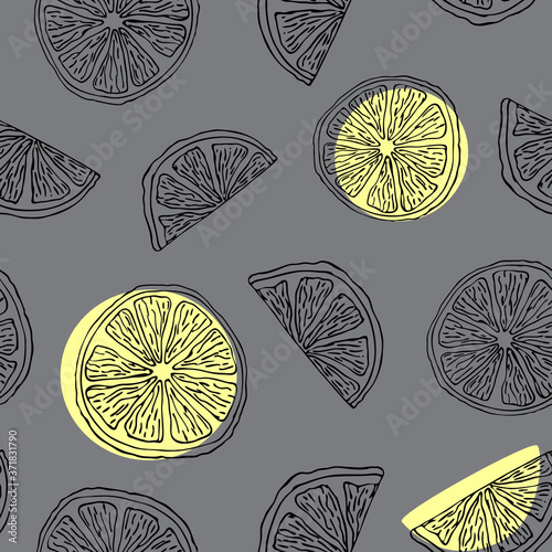 seamless-citrus-pattern-in-doodle-style-lemons-oranges-limes-or-grapefruits-for-decoratio