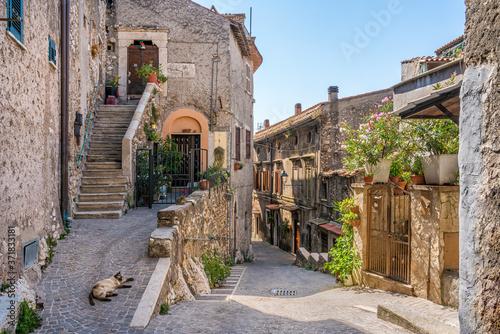 Fotografia Scenic sight in Montecelio, beautiful little town in the province of Rome, Lazio, Italy