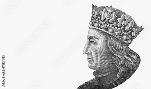 Obraz na plátně Grand Duke of Lithuania, Jogaila, and later, King of Poland Wladyslaw (Ladislaus) II Jagiello (ca