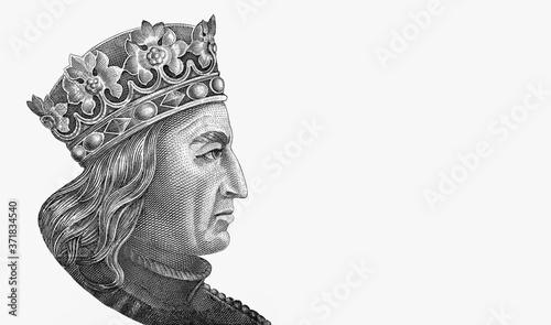 Fototapeta Grand Duke of Lithuania, Jogaila, and later, King of Poland Wladyslaw (Ladislaus) II Jagiello (ca