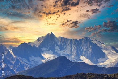 Fotografie, Obraz Presanella dal rifugio larchel in val di Peio