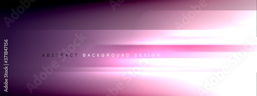Motion concept neon shiny lines on liquid color gradients abstract backgrounds Canvas