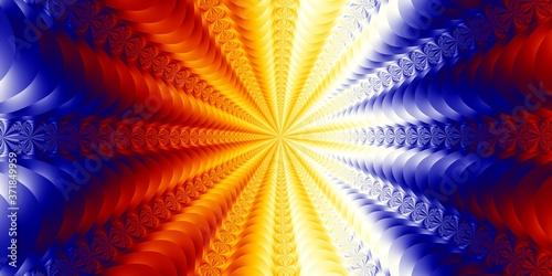 Fractal embossed pattern background Fototapet