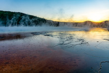 Sunset Over Grand Prismatic Sp...