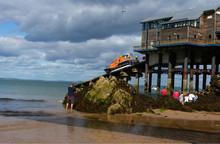 Lifeboat Launching At Tenby, P...