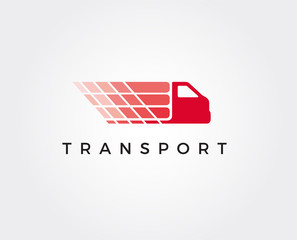 minimal transport logo template - vector illustration