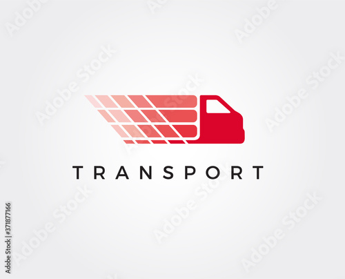 Canvastavla minimal transport logo template - vector illustration