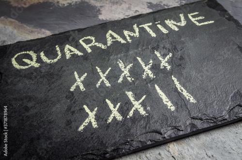 Great concept of divorce in quarantine. Canvas Print