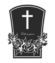 Funeral Card, Vector Graveston...