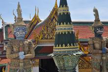 Yakshas Guarding A Thai Temple...