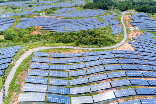 Fotografía solar power on hillside