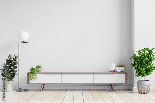 Fotografie, Obraz shelf tv in modern empty room,minimal design.