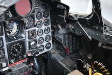 Inside Cockpit View Of Phantom Jet.