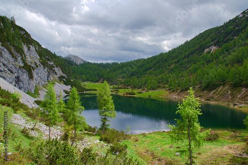 Fototapety, obrazy: lake in the mountains, Tauplitzalm Austria