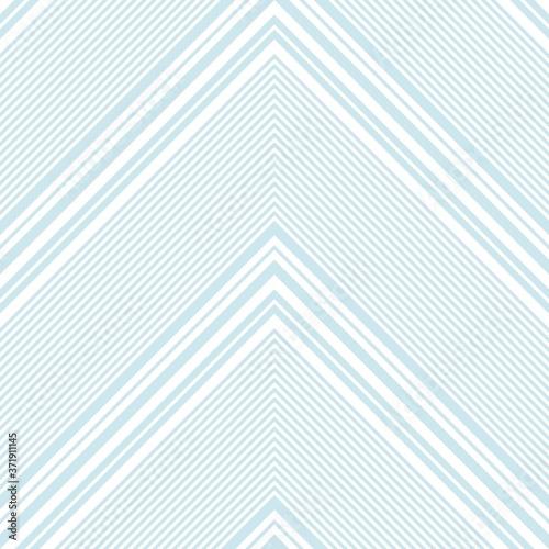 Sky blue Chevron Diagonal Stripes seamless pattern background Wallpaper Mural