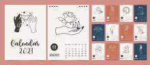 Cute Boho Calendar 2021 With H...