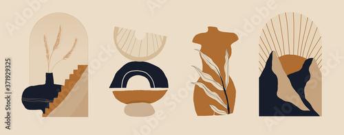 Modern minimalist abstract aesthetic illustrations Wallpaper Mural
