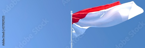 Fotografija 3D rendering of the national flag of Indonesia waving in the wind
