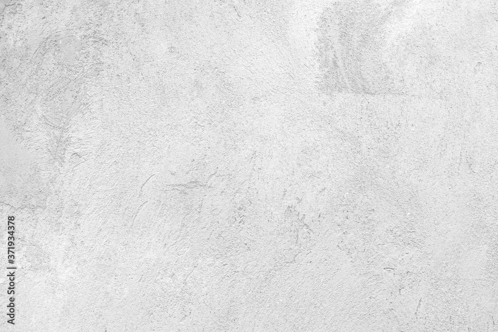 Fototapeta black and white for the old white retro wall background for the background, Coarse cement plaster wall for white background, rough textured background, can be beautifully assembled into the decoration