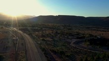 Aerial Flyover Of The Morongo Basin In Pioneertown