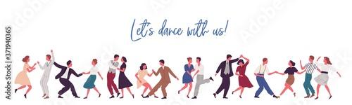 Photo People dancing lindy hop, swing or jazz dance of 40s
