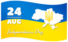 Vector Illustration, Banner Or Poster For Independence Day Of Ukraine.