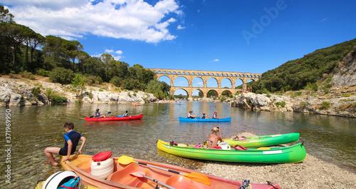 Obraz na plátně Pont du Gard, aqueduc romain dans le sud de la France