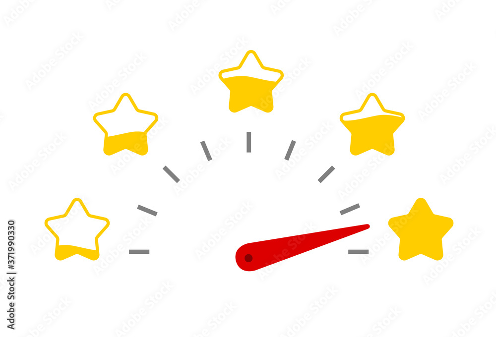Fototapeta Customer service evaluation and satisfaction survey concepts. Feedback client, Consumer experience scale rating. Vector illustration icon emoticon flat design