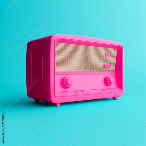 Fototapeta 3d illustration. Old radio vintage concept. Minimal obraz