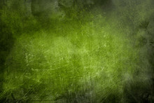Green Scraped Wall