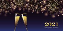 Happy New Year 2021 Golden Fir...