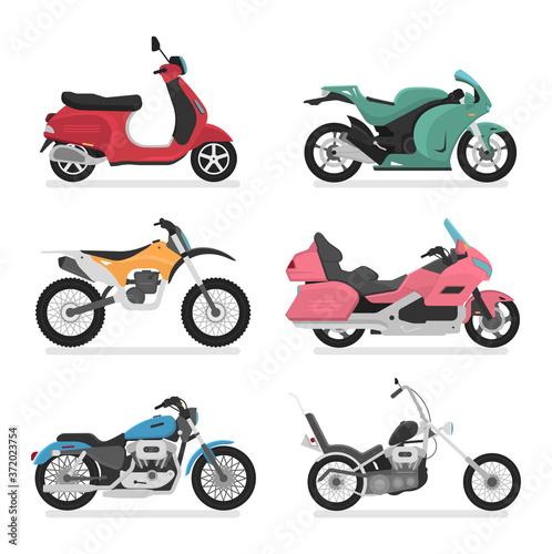 Fototapeta Motorcycle Icon Vector Logo Template