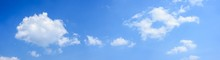 Panoramic Of White Clouds On B...