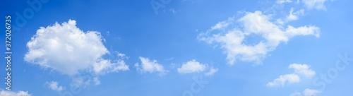Fototapeta Panoramic of white clouds on blue sky