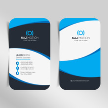 Modern Business Card Template. Personal Visiting Card With Company Logo. Vector Business Card Template. Visiting Card For Business And Personal Use. Vector Illustration Design.