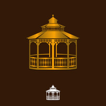 Gazebo Icon Vector On White Background, Gazebo Trendy Filled Icons From Architecture And City Collection, Gazebo Vector Illustration