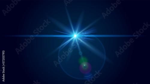 Photo Transparent sunlight special lens flare light effect