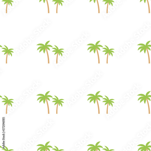 Seamless palm tree green pattern texture. Palm tree print vector illustration background. Wall mural