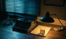 Vintage Writer Desktop With Ty...