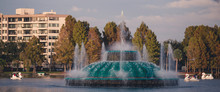 The Lake Eola Fountain In Down...